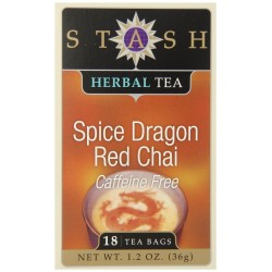 Stash Tea Spice Dragon Red Chai Herbal Tea, 18 Count Tea Bags in Foil (Pack of 3)