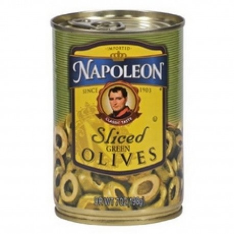 Napoleon Sliced Green Olives 7 Ounce Can