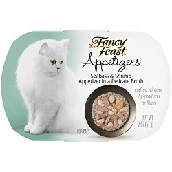 Fancy Feast Appetizers for Cats, Seabass & Shrimp, 2-Ounce Tubs