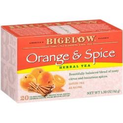 Bigelow Orange & Spice Herbal Tea, 20-Count Boxes (Pack of 3)