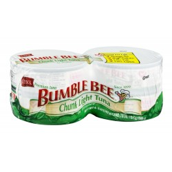 Bumble Bee Chunk Light Tuna in Water 5 Oz Cans, 4 Count