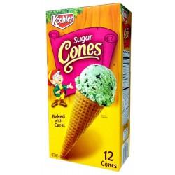 Keebler Ice Cream Sugar Cones 12 Count,  4 Oz.