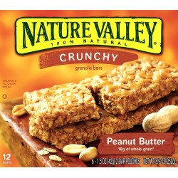 Nature Valley Crunchy Granola Bars, Peanut Butter, 12-Count Boxes