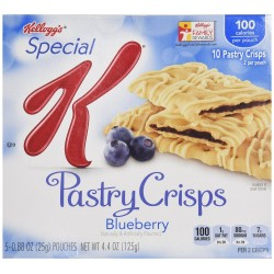 Kellogg's Special K Pastry Crisps, Blueberry, 4.4-Ounce