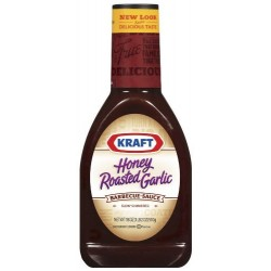 Kraft Honey Roasted Garlic Barbecue Sauce, 18 Ounce Squeeze Bottles