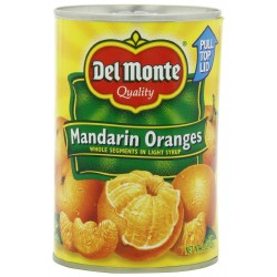 Del Monte Mandarin Oranges Whole Segments in Light Syrup, 15-Ounce