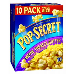 Pop Secret Movie Theatre Butter Flavor, Microwavable Popcorn, 10-Count, 32-Ounce Box