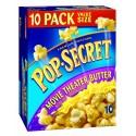 Pop Secret Movie Theatre Butter Flavor, Microwavable Popcorn, 10-Count, 32-Ounce Box