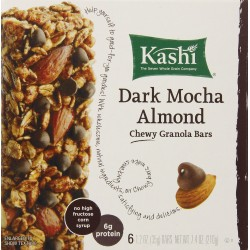 Kashi Dark Mocha Almond Chewy Granola Bars Includes 6, 1.2 Oz. Individually Wrapped Bars