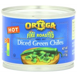 Ortega Diced Green Chiles, Mild 4 Oz