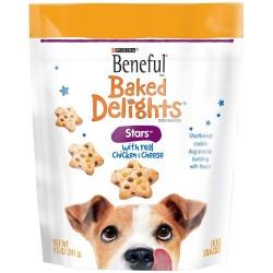 Beneful Baked Delights Stars with Chicken and Cheese Dog Pet Snacks, 8.5-Ounce