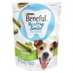 Beneful Healthy Smile Dental Dog Snacks - Twists - For Small / Medium Dogs - 10 Treats Per Package