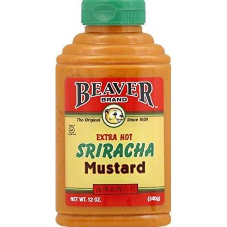 Beaver Brand Extra Hot Sriracha Mustard, 12 Oz