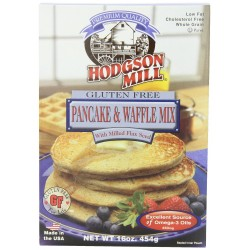 Hodgson Mill Gluten Free Pancake and Waffle Mix with Milled Flax Seed, 16-Ounce