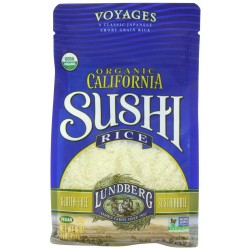 Lundberg Organic California Sushi Short Rice, White, 16 Ounce