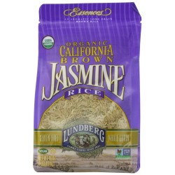 Lundberg Organic California Jasmine Rice, Brown, 16 Ounce