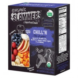 Organic Slammers Superfood Snack Chill'n 4 Count 3.17oz Pouches