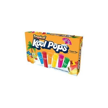 Kool Pops Tropical Freezer Pops 20 Pops