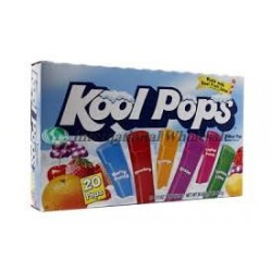 Freezer Bars Kool Pops Assorted Box of 20 - 1.5 Oz Pops