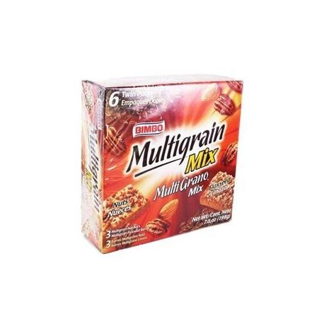 7oz Bimbo Multigrain Bars with Nuts + Flax Seed Variety Pack (One Box)