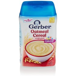 Gerber Baby Cereal, Oatmeal, 8 Ounce