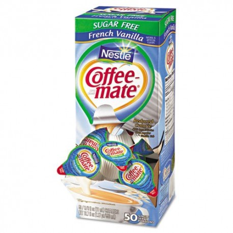Coffee-mate - SF French Vanilla Creamer, .375 Oz. Box of 50