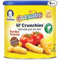 Gerber Graduates Lil' Crunchies, Garden Tomato, 1.48-Ounce Canisters
