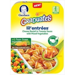 Gerber Graduates Cheese Ravioli in Tomato Sauce with Mixed Vegetables 5.3 Ounce