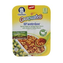 Gerber Graduates Lil Entrees, Spiral Pasta with Turkey Meat Sauce 6.7 Ounce