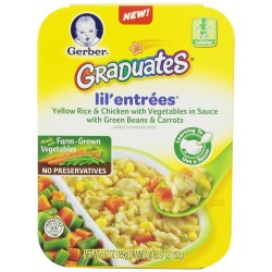 Gerber Graduates Lil Entrees Yellow Rice with Chicken Vegetables 6.67 Ounce