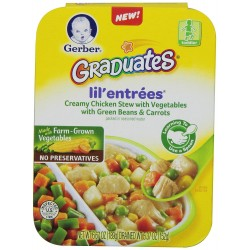 Gerber Graduates Lil Entrees Creamy Chicken Stew with Green Beans & Carrots, 6.67 Ounce