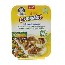 Gerber Graduates Lil Entrees, Mashed Potatoes & Meatloaf Nuggets 6.7  Ounce