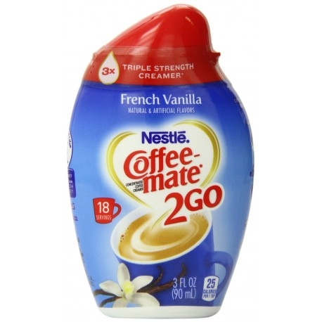 Coffee-mate 2Go Triple Strength Coffee Creamer, French Vanilla, 3 Ounce (Pack of 3)
