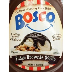 Bosco Fudge Brownie Syrup Topping 15 Ounce