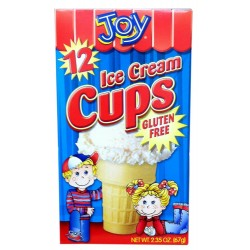 Joy Cone Gluten Feee12-Count Ice Cream Cups 2.35 Ounce