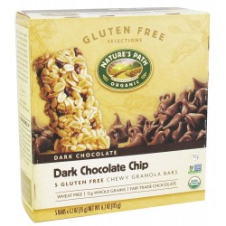 Natures Path Organic Gluten Free Selections Dark Chocolate Chip Chewy Granola Bar, 6.2 Ounce