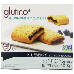 Glutino Gluten Free Breakfast Bars, Blueberry, 1.41 oz ( 5 Bars )