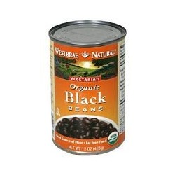 Westbrae Natural Vegetarian Organic Black Beans, 15 Ounce Cans
