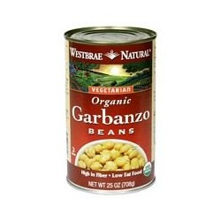 Westbrae Natural Vegetarian Organic Garbanzo Beans, 15-Ounce