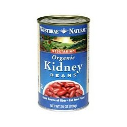 Westbrae Natural Vegetarian Organic Kidney Beans, 15 Ounce  Can