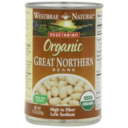 Westbrae Natural Organic Great Northern Beans, 15 Ounce Cans