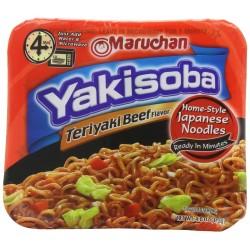 Maruchan Yakisoba, Teriyaki Beef Flavor, 4-Ounce Microwavable