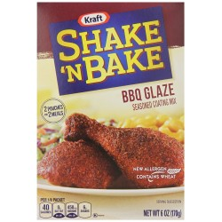 Kraft Shake N Bake BBQ Glaze Seasoned Coating Mix, 6 ounce