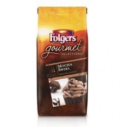 Folgers, Gourmet Ground Coffee, Mocha Swirl, 10 oz Bag
