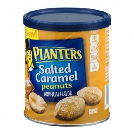 Planters, Salted Caramel Peanuts, 6 Ounce Canister