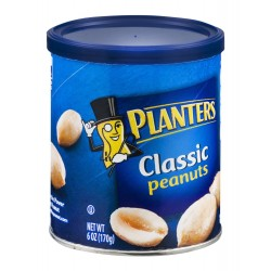 Planters Peanuts Classic 6 Ounce Canister