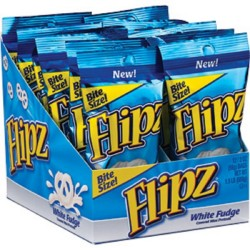 Flipz  White Fudge Covered Pretzels  2 Ounce (Pack of 12)