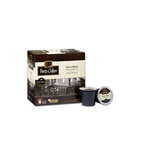 Peet's coffee House Blend Dark Roast 10 count k-cup