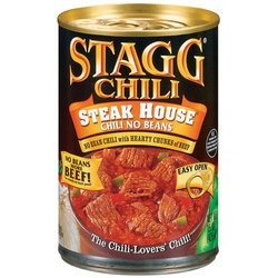 Stagg, Steakhouse Chili, No Beans, 15 Ounce Can