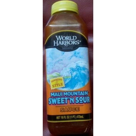 World Harbors Maui Sweet and Sour Sauce, 16-Ounce Bottles